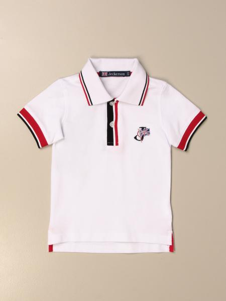 Jeckerson: Jeckerson polo shirt in cotton with striped edges