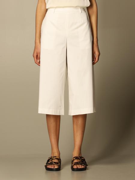 L'autre Chose: Pantalone L'autre Chose in gabardine di cotone