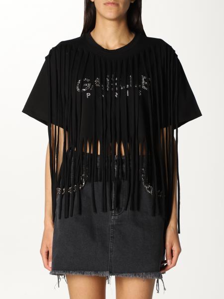 Gaëlle Paris: T-shirt cropped GaËlle Paris con frange