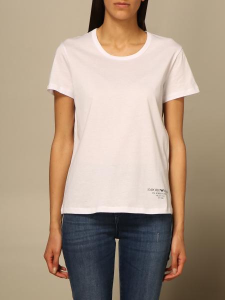 Emporio Armani women: Emporio Armani T-shirt with mini logo