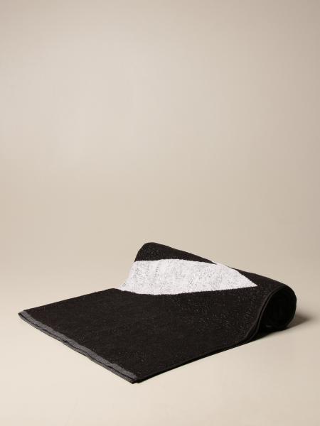 Emporio Armani bath towel with big logo