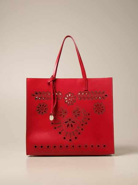 Red(V): Borsa a spalla Red(V) con motivo sangallo