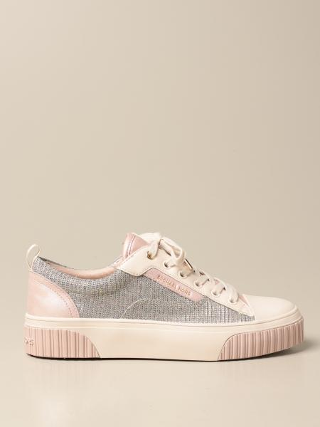 Michael Kors women: Michael Michael Kors sneakers in glitter canvas and leather