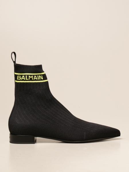 Balmain: Balmain ankle boots in stretch knit