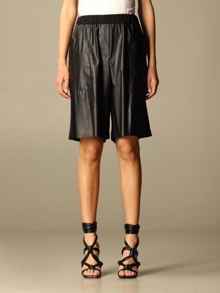 Pinko women: Pinko bi-material shorts