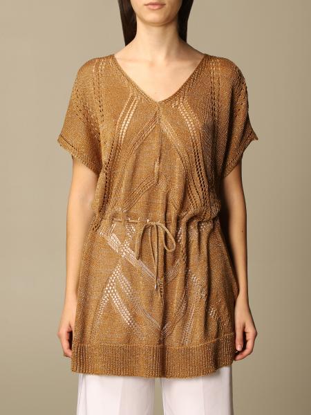 Twinset women: Twin Set short dress in lurex knit