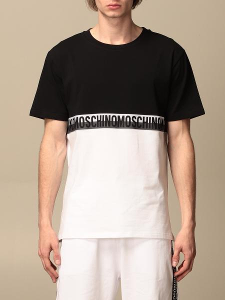T-shirt Moschino Underwear con banda logata