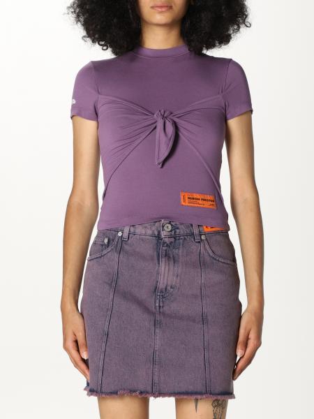 Heron Preston: Heron Preston T-shirt with knot and logo