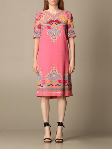 Etro women: Etro dress in patterned viscose