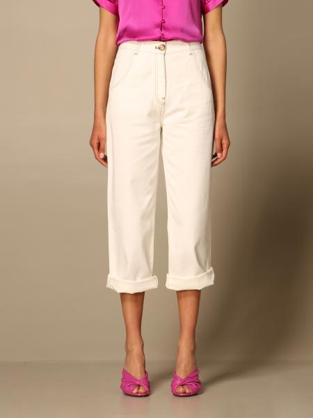 L'autre Chose: Pantalone L'autre Chose in twill di cotone