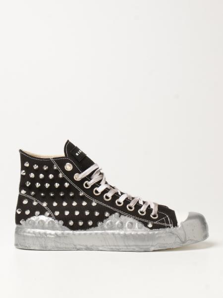 Gienchi: Sneakers Jean Michel Gienchi in canvas con borchie