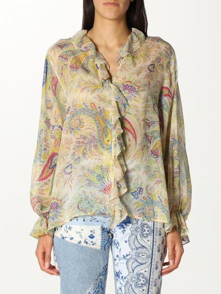 Etro women: Etro patterned silk shirt