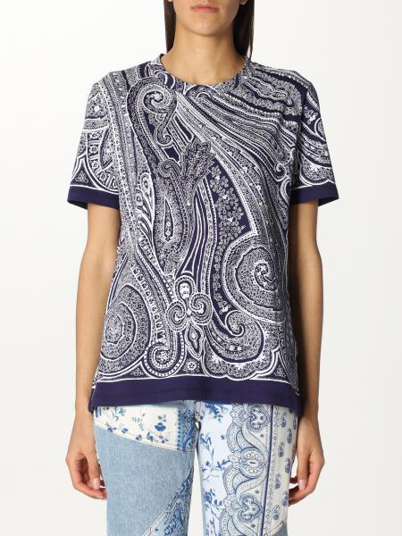Etro women: Etro t-shirt in patterned cotton
