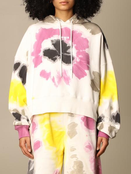 Msgm: Msgm sweatshirt in tie dye cotton