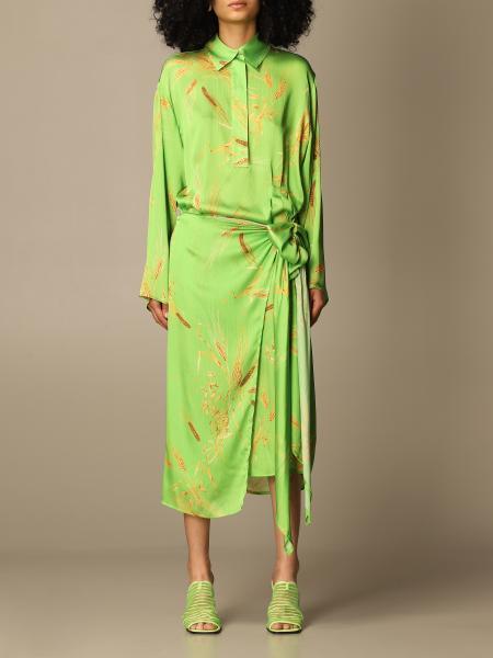 Msgm: Msgm dress with wheat print