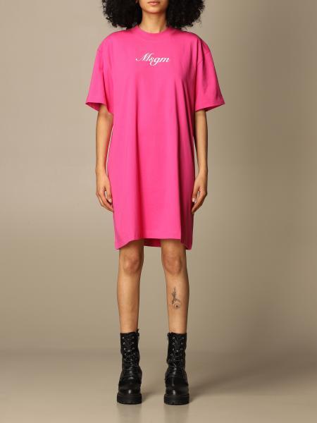 Msgm: Msgm cotton t-shirt dress with logo