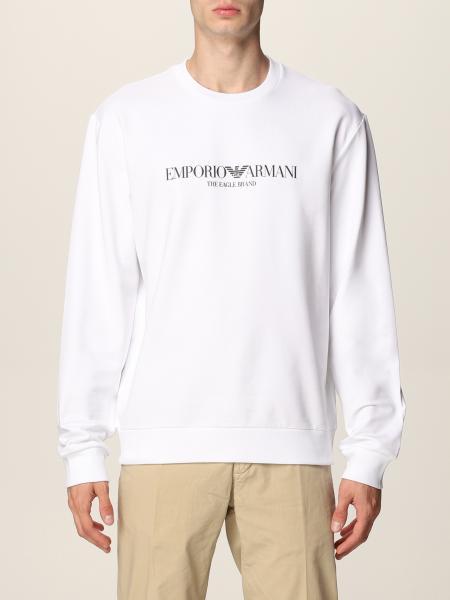 Emporio Armani: Emporio Armani crewneck sweatshirt with logo