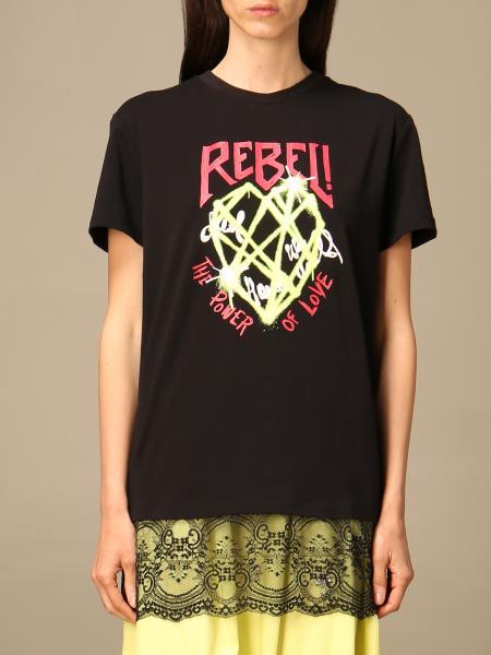 Twin Set Actitude: Twin Set Actitude T-shirt with rebel print