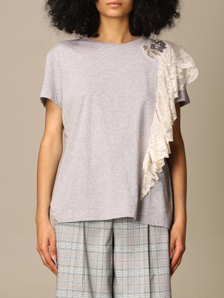 Twin Set Actitude: Twin Set Actitude T-shirt with lace ruffles