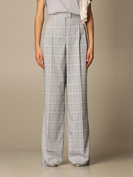 Twin Set Actitude: Twin-set Actitude check high-waisted trousers