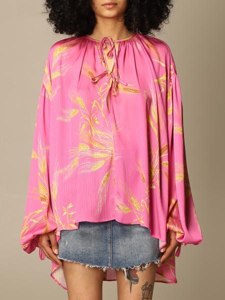 Msgm: Msgm blouse with wheat print