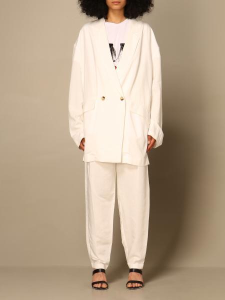 Twin Set Actitude: Twin-set Actitude oversized jacket in linen blend