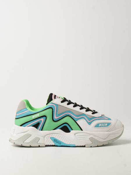 Sneakers Msgm in pelle e mesh
