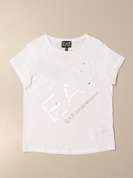 T-shirt Emporio Armani con logo di paillettes
