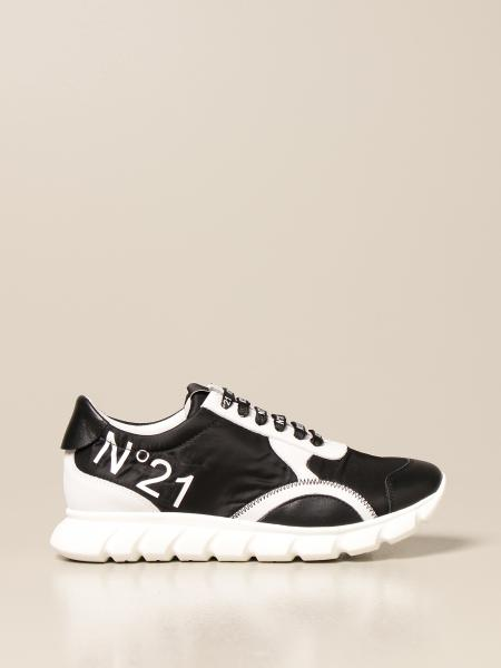 N ° 21 trainers in nylon and leather
