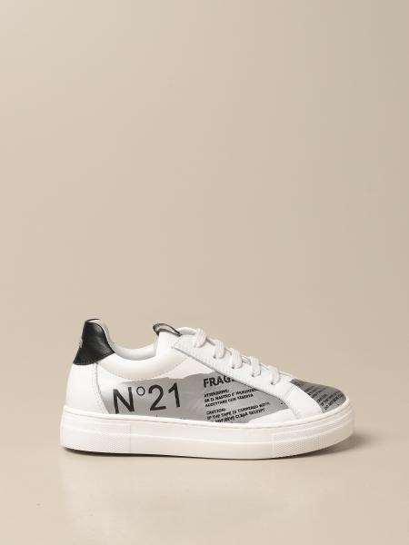 N ° 21 sneakers in genuine leather with print