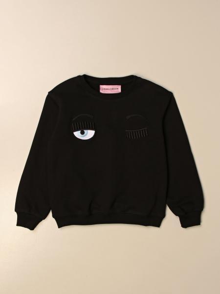 Chiara Ferragni crewneck sweatshirt with flirting eyes logo