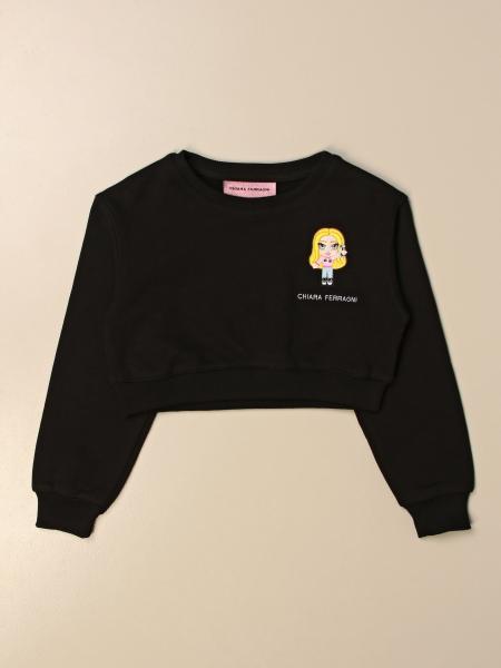 Chiara Ferragni cropped sweatshirt with mini Mascot