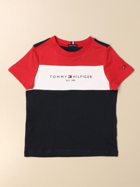 Tommy Hilfiger: T-shirt Tommy Hilfiger tricolor con logo