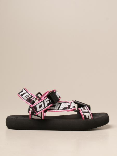 Босоножки на каблуке Женское Off White