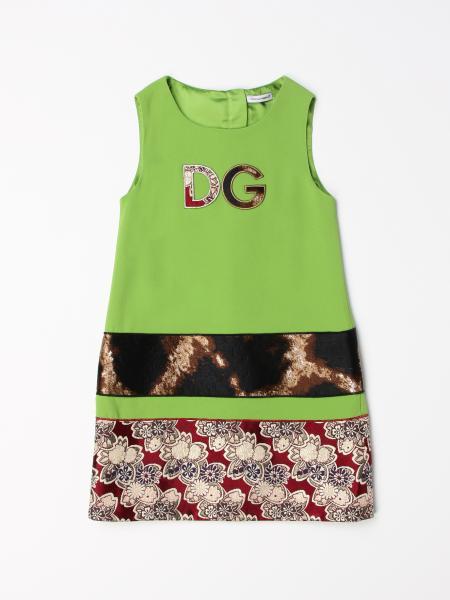Abito Dolce & Gabbana con fasce a fantasia