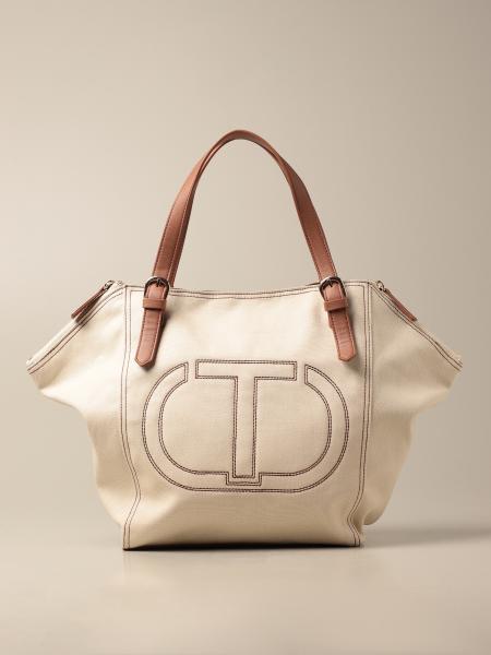 Twinset: Twin-set canvas bag
