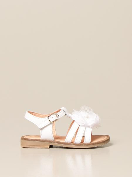 Clarys: Clarys sandal in leather with tulle application