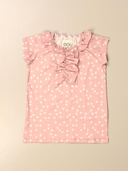 Douuod: Douuod T-shirt in polka dot cotton