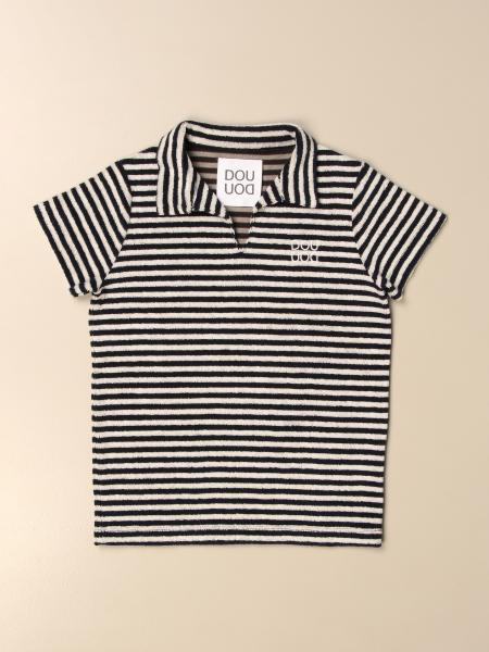 Douuod: Douuod striped polo shirt