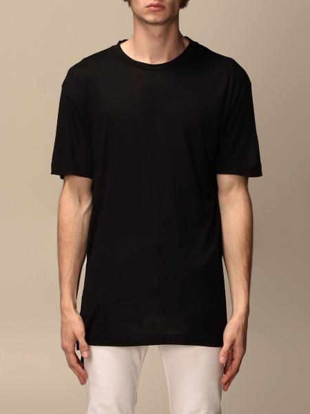 Les Hommes: Les Hommes basic T-shirt with metal rings