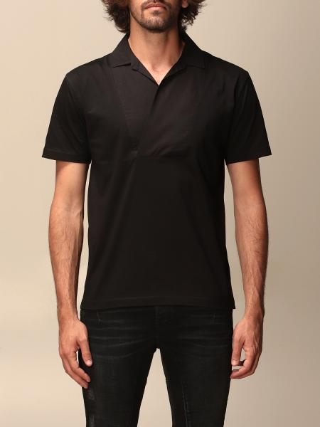 Les Hommes: Les Hommes v-neck T-shirt with collar