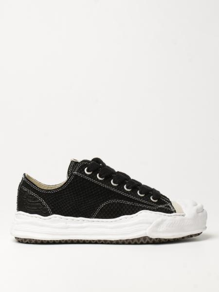 Maison Mihara Yasuhiro: Maison Mihara Yasuhiro sneakers in suede with python print