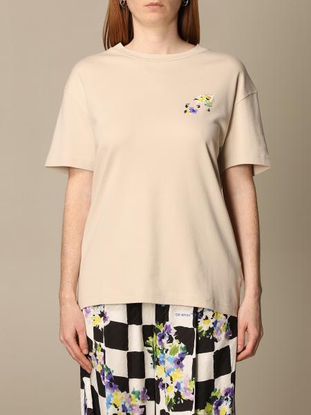 Off White: T恤 女士 Off White