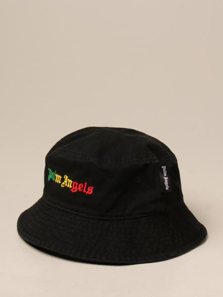 Cappello da pescatore Palm Angels con logo multicolor