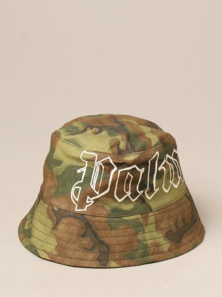 Cappello da pescatore Palm Angels camouflage con logo