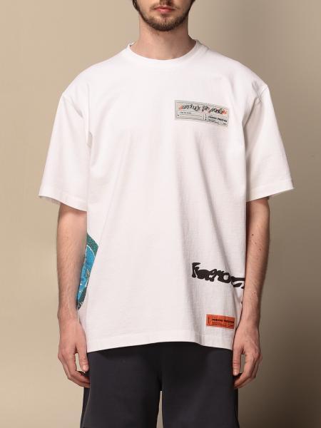 T-shirt over Heron Preston con logo