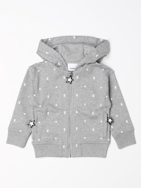 Burberry hooded jumper with all over monogram
