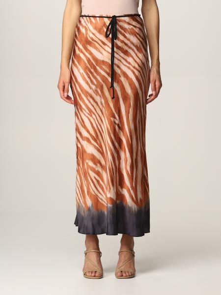 Pinko women: Pinko long patterned skirt