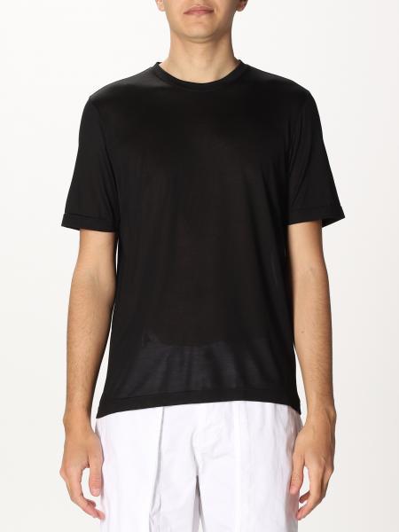 T-shirt basic Gran Sasso in seta