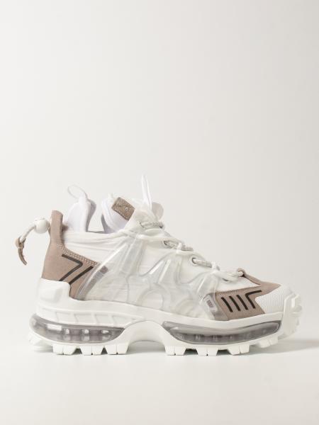 Emporio Armani: Emporio Armani chunky sneakers in nylon and suede